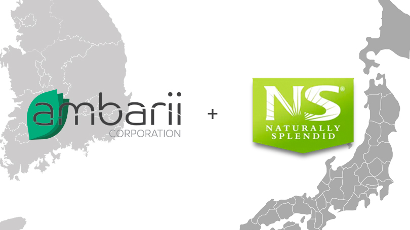 NEUTRISCI'S AMBARII CORPORATION ANNOUNCES LOI WITH NATURALLY SPLENDID TO DISTRIBUTE CBD MELTS IN JAPAN AND SOUTH KOREA